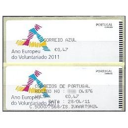 PORTUGAL (2011). Voluntariado - Crouzet negro. ATM + rec. (C. Az