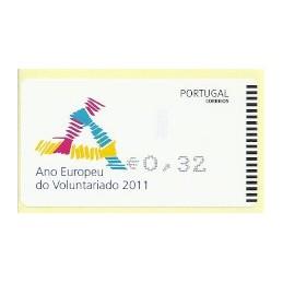 PORTUGAL (2011). Voluntariado - AMIEL negro. ATM nuevo