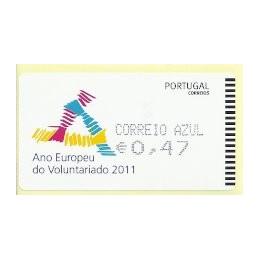 PORTUGAL (2011). Voluntariado - AMIEL negro. ATM nuevo (C. Azul)