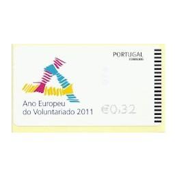 PORTUGAL (2011). Voluntariado - EPOST negro. ATM nuevo
