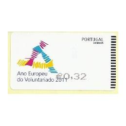 PORTUGAL (2011). Voluntariado - SMD negro. ATM nuevo