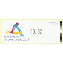 PORTUGAL (2011). Voluntariado - Crouzet negro. ATM nuevo