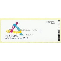 PORTUGAL (2011). Voluntariado - Crouzet negro. ATM nuevo (C. Azu