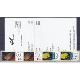 BÉLGICA (2011). 1. Peces (1 + 2) - Tipo 1. Serie 4 val. + rec.
