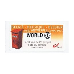 BÉLGICA (2011). Fete du Timbre - Antwerpen. ATM nuevo (WORLD 1)