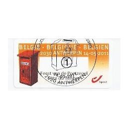 BÉLGICA (2011). Fete du Timbre - Antwerpen. ATM (1), matasello