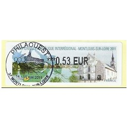 FRANCIA (2011). PHILAOUEST Montlouis. ATM (0,53), matasello