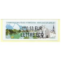 FRANCIA (2011). PHILAOUEST Montlouis. ATM nuevo (0,53 ECO)