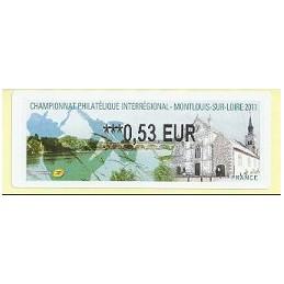 FRANCIA (2011). PHILAOUEST Montlouis. ATM nuevo (0,53)