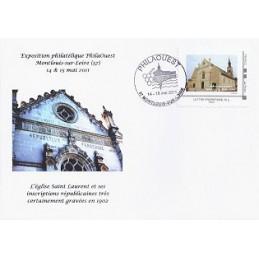 FRANCIA (2011). PHILAOUEST Montlouis. Sobre primer día (sello)