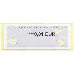 FRANCIA (2011). Aviones papel - WINCOR. ATM nuevo