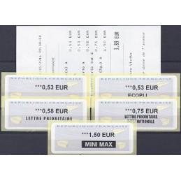 FRANCIA (2011). Aviones papel - WINCOR. Serie 5 val. + r. (2011)