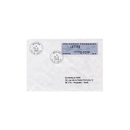 POLINESIA FR. Emblema postal. Sobre primer día