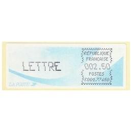 FRANCIA (1988). Cometa - C001.77468 - negro. ATM nuevo (LETTRE)