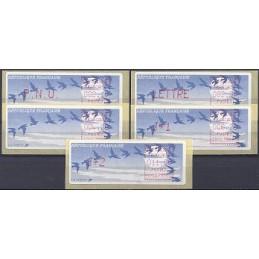 FRANCIA (1990). Pájaros (1) - Crouzet rojo - C001.75500. Serie 5