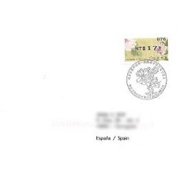 TAIWÁN (2011).  Peonías - negro. Sobre P.D. España (076)