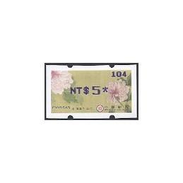 TAIWÁN (2011). Peonías - violeta. ATM nuevo (104)