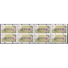 TAIWÁN (2011). Peonías - violeta. Serie 8 val. (104)