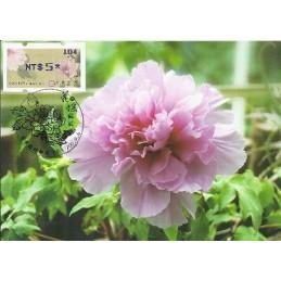 TAIWÁN (2011). Peonías - violeta. Tarjeta máxima (104) *