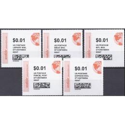 EEUU (2011). ENDICIA (stamps.com). Serie 5 sellos