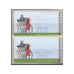 PORTUGAL (2000). Museu comunicaçoes - SMD. ATMs nuevos ($+EU)