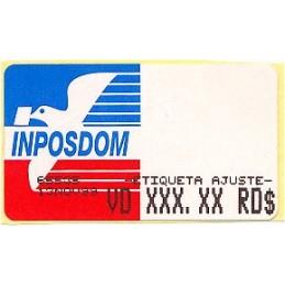 REP. DOMINICANA (1999). Emblema postal. Etiqueta ajuste *