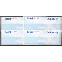 BRASIL (2004). Paloma blanca (2). Serie 4 val. (2004)