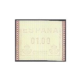 ESPAÑA. 1.1. Frama - Papel mate. ATM nuevo, impresion parcial
