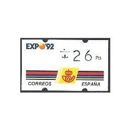 ESPAÑA. 2.1. EXPO 92 - 3 díg. ATM nuevo (26) ERROR