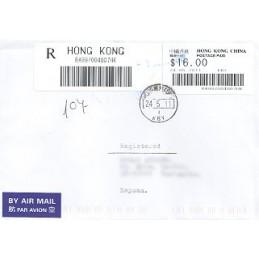 HONG KONG (2011). Emision básica (3)- KBY. Sobre P.D. ESP (cert.