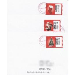 EEUU (2010). 1752. Navidad. Sobres a España (2011)