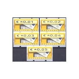 ALEMANIA (2002). Buzón - Sielaff. ATMs nuevos (0,01 a 0,05)