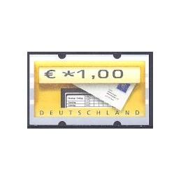 ALEMANIA (2002). Buzón - Sielaff. ATM nuevo (1,00)