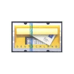 ALEMANIA (2002).  Buzón. Etiqueta en blanco (final)