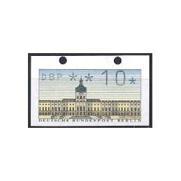 BERLÍN (1987). Castillo Charlottenburg. ATM nuevo ( 10) - ERROR