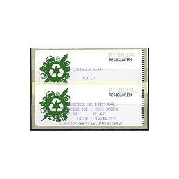 PORTUGAL (2009). Reciclaje. Crouzet azul - CA. ATM (0,47) + rec.