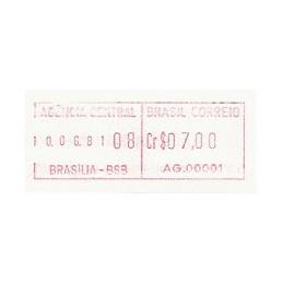 BRASIL (1981). Emisión básica (1) - AG. 00001. ATM nuevo