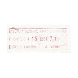 BRASIL (1981). Emisión básica (1) - AG. 00002. ATM nuevo