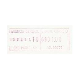 BRASIL (1981). Emisión básica (1) - AG. 00003. ATM nuevo