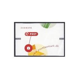 DINAMARCA (2001). Comunicación. Etiqueta en blanco