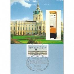 BERLÍN (1987). Castillo Charlottenburg. Tarjeta con ATM