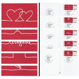 DINAMARCA (2011). 3 - Felicitaciones (2). Serie postales, matas.