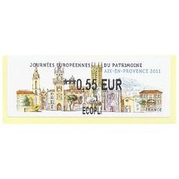 FRANCIA (2011). Patrimoine Aix Provence. ATM nuevo (0,55 ECOPLI)