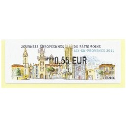 FRANCIA (2011). Patrimoine Aix Provence. ATM nuevo (0,55)