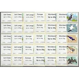 R. UNIDO (2011). Pájaros (4). Serie 30 val. (ERROR)
