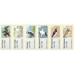 R. UNIDO (2011).  Pájaros (4) - STAMPEX 002011 93. Serie  6 val.