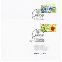 AUSTRIA (2011). GMUNDEN 2011 (Flores 3). Sobres P.D. (España)