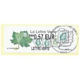 FRANCIA (2011). Lettre Verte - LISA 2. ATM (0,57), P.D. Paris
