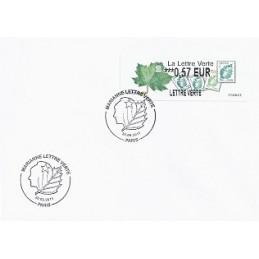 FRANCIA (2011). Lettre Verte - LISA 2. Sobre P.D. (0,57) Paris