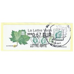 FRANCIA (2011). Lettre Verte - LISA 2. ATM (0,57), P.D. Antony
